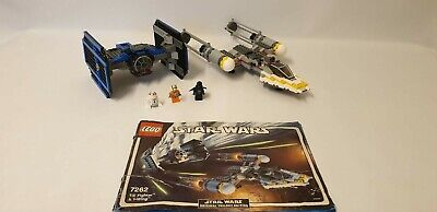 Lego Star Wars 7262 (2004) TIE Fighter and Y-wing With Instructions No Box