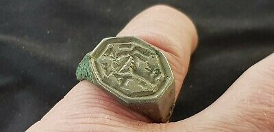 VR. Viking Silver ring part  uncleaned condition A must read description L110h