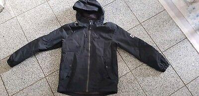 Gebraucht, Jack Wolfskin Kaputzen winterjacke Gr.152 Jungen schwarz kids enfant outdoor gebraucht kaufen  Essen