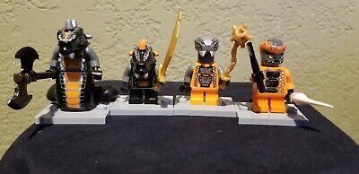 Lego Ninjago Lot of 4 Constrictai Tribe- Skalidor,Bytar,Chokun,Snike Minifigures