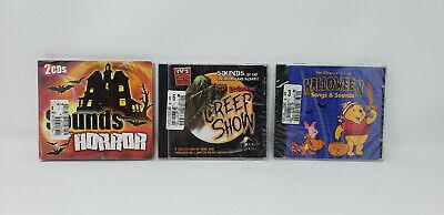 Halloween Horror Songs (3 HALLOWEEN CD LOT Halloween songs-sounds, Sounds of Horror & Creep Show)