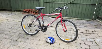 Mans bike and helmet bicycle 26inch