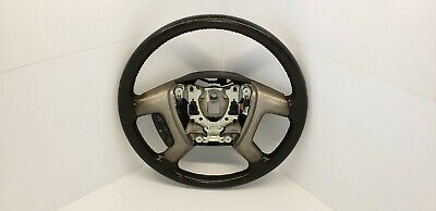 07-14 Yukon Tahoe Steering Wheel W/ Cruise Controls Black Leather OEM