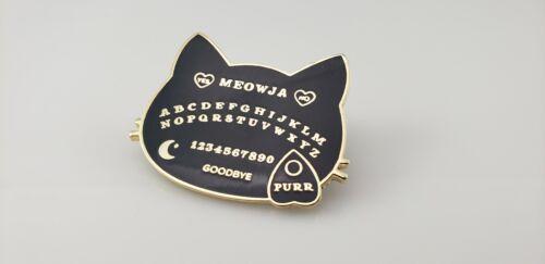 Ouija Board Cat Black Enamel Pin
