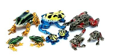 Dollhouse Miniatures Ceramic Frogs Family Animals Figurines Collectibles