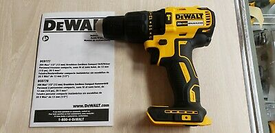 Dewalt 20v Dcd778 Brushless 12 Hammer Drill Tool Only