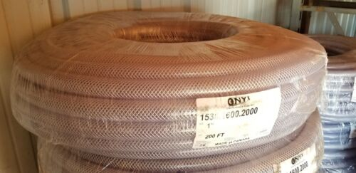 "CLEAR REINFORCED HOSE 1"" ID X 200"