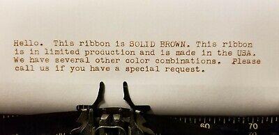 Universal Typewriter Ribbon Twin Spool Brown Ink 12 Ribbon - Brand New