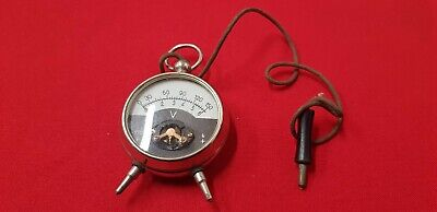 Voltmeter Antique In The Form Of Watch Gusset - Ref42804