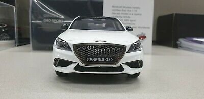 1:18 Minikraft Hyundai Genesis G80 Sports White 250pcs Limited Dealer Edition