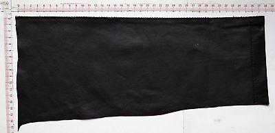 schwarzes Lederstück 35 x 13 Lederreste schwarz Lammnappa Leder Bastelleder ()