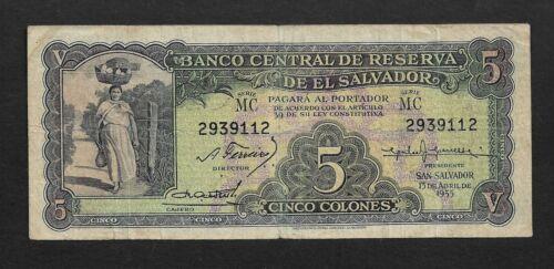 El Salvador p-92 , F, 5 Colones, 1955