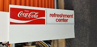 VINTAGE Tin enjoy coca cola refreshment center drive in Menu Board Sign 21 x 45