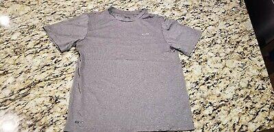 CHAMPION Performance Youth Boys Athletic Moisture Wicking T-Shirt Gray Sz Medium