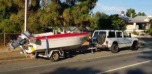Fraser Boat 16ft Yamaha 70HP/2001 tilt trim / rust free Trailer