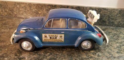 Jim Beam Whiskey Decanter Blue VW Volkswagen Bug **Empty**