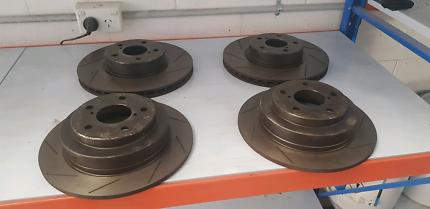 Slotted rotors for subaru  gc8/gf8 wrx