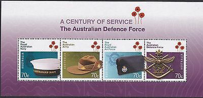 Australia 2014 MS4274 Cent. Aust. Defence Force Minature Sheet MNH