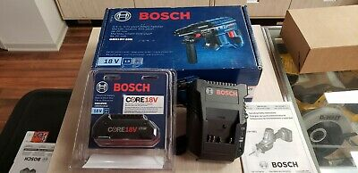 Bosch Gbh18v-20n 18v 34 Rotary Hammer- Core Battery -charger Set