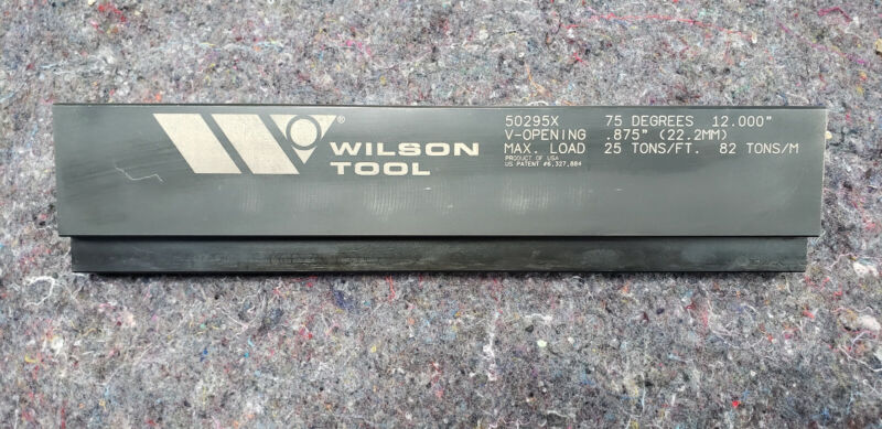 "Wilson press brake tool 50295X 12"""