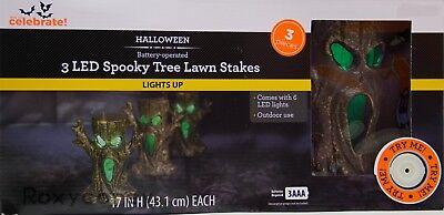 Halloween 17 in H 3 LED Spooky Tree Lawn Yard Stake - Spooky Halloween Tree