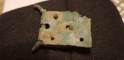 Superb Post Medieval copper alloy buckle plate buckle part mostly broken. L74k