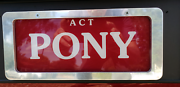 PONY NUMBER PLATES Higgins Belconnen Area Preview