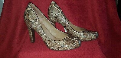 Jessica Simpson Brown Snakeskin 4 inch Heeled Shoes Size 5