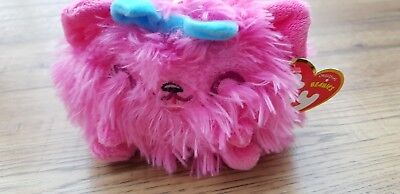 ty Mind Candy Purdy Pink Cat Beanie Plush Soft Toy