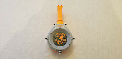 Nerf N-Strike Elite Dart 25 Round Capacity Drum Clip Gray Orange FREE SHIP