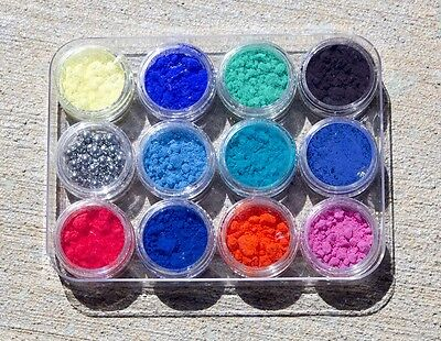 Color Changing Thermochromic Nail Art Kit 11 colors pigment powder thermal heat