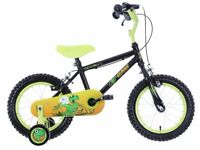 "(3069) 14"" APOLLO CLAWS Boys Girls Kids Bike Bicycle + STABILISERS Age: 3-5, Height: 95-110 cm"