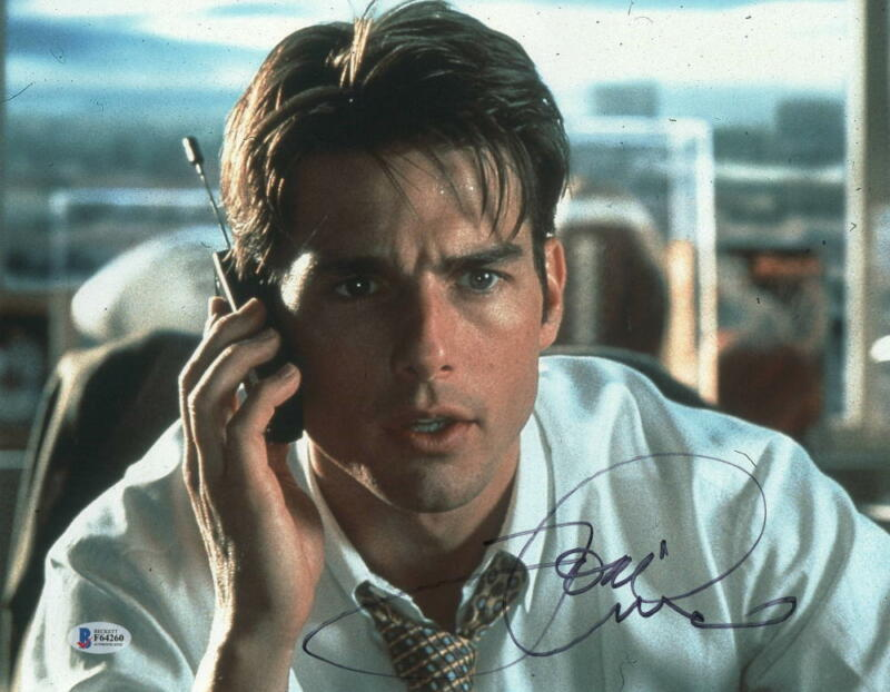 TOM CRUISE SIGNED 11X14 PHOTO JERRY MAGUIRE AUTHENTIC AUTOGRAPH BECKETT COA