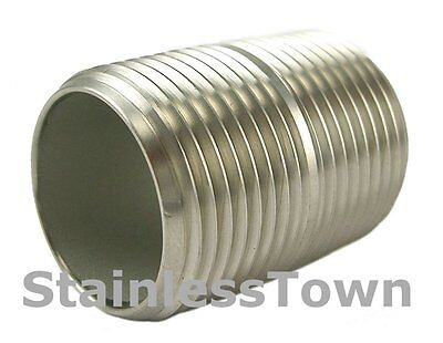 Stainless Steel Pipe Nipple 1 X Close 1-12 Type 304 18-8 Stainlesstown