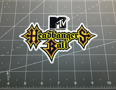 How To Sell Home Decor Mtv Headbangers Ball Decal Sticker Music Television 80s 90s Heavy Metal Rock Tv Home Decorators Jobs