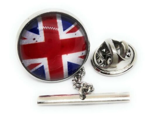 BRITISH UNION JACK FLAG FLAG TIE TACK / LAPEL PIN
