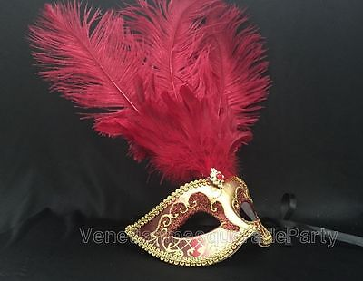 Mardi Gras Girl Costume (Masquerade Ball Mask mardi gras Feather show girls Venetian Costume)