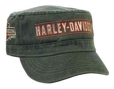 Harley-Davidson Men's Embroidered H-D Script Painter's Cap, Olive Green PC51653