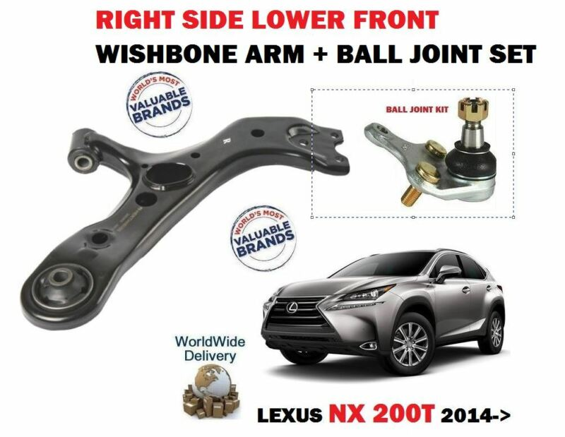 FOR LEXUS NX 200T 300H 2014->NEW RIGHT SIDE LOWER WISHBONE ARM + BALL JOINT SET