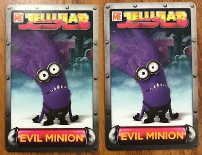 TWO (2) RARE Evil Minion Cards Despicable Me Jelly Lab Game Dave & Busters (Evil Minions)