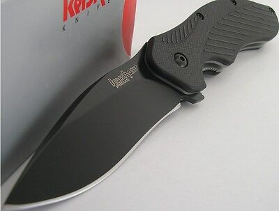 Kershaw Black Clash Pocket Folder Flipper Assisted Opening Knife Plain Edge on Rummage