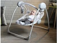Grey baby swing in excellent new condition, used once!