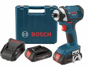 Bosch 18-Volt 1/4-in Cordless Hex Impact Driver Kit (NEW) $189