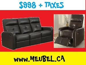 $998 - Sofa + Glider Chair  ---  FREE DELIVERY !