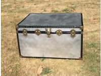 Large Aluminium trunk/storage/coffee table