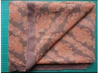 Original Vintage Woven Orange & Brown Woven Fabric 350x130cm
