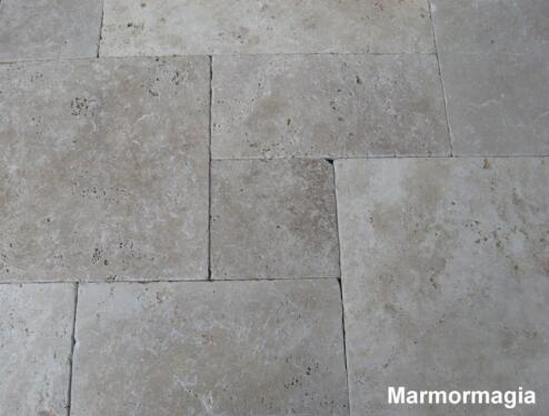 Travertin Marmor Antikmarmor Naturstein Fliese römischer Verband in ...