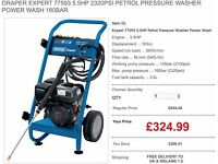DRAPER EXPERT 77593 5.5HP 2320PSI PETROL PRESSURE WASHER POWER WASH 160BAR