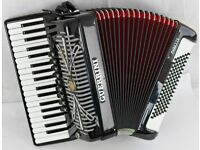 Guerrini Oxford IV Musette - 96 Bass - 4 Voice Accordion with Full Magnetic MIDI - Great Condition