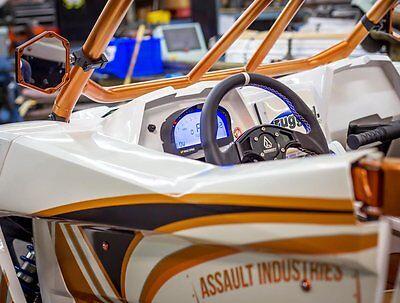 "Assault Industries B2 Bomber Side Mirrors 1.875"" Clamp Kit Orange Maverick X3"